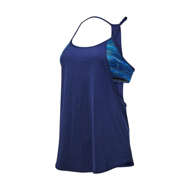 TYR Womens Cyprus Shea 2 In1 Tank, 472 Navy Royal, SIZE X-Large (14/16