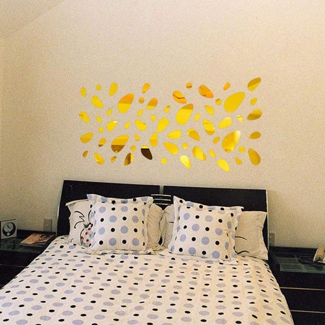 12Pcs 3D Mirror Vinyl Removable Wall Sticker Decal Home Decor Art DIY