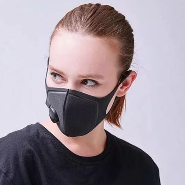 Black Face Mask with Filter- 2 or 4-Pack