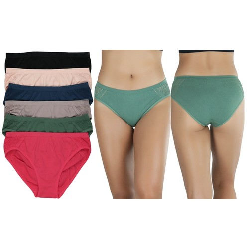(6 Pack) ToBeInStyle Women's Seamless Stretch Panties