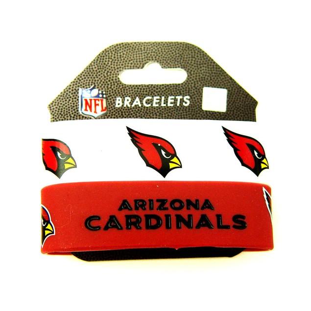 NFL Arizona Cardinals Rubber Wrist Bands Bracelets Set of 2