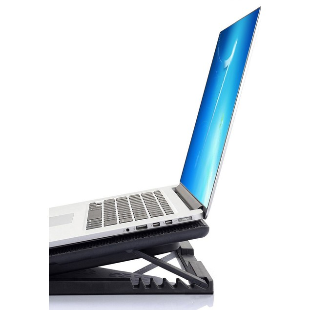 6 Speed Metal Mesh Laptop Cooler Pad 6 Fans w/ Blue LED &  2 USB PORT