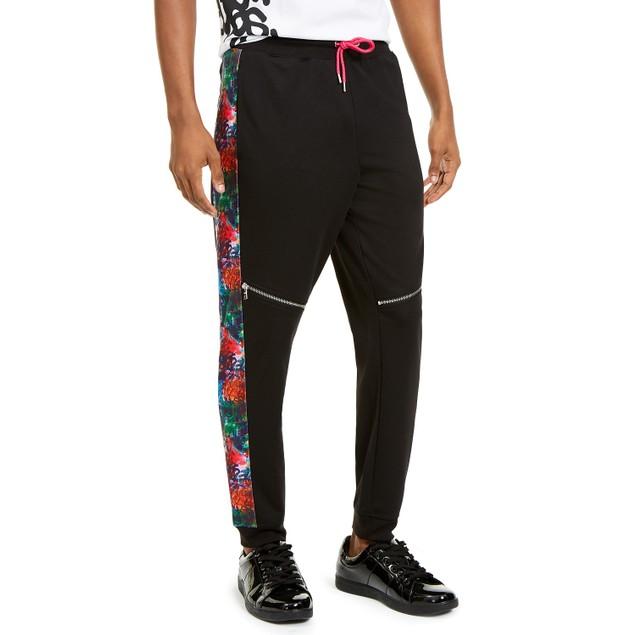 INC International Concepts Men's Spotlight Jogger Pants  Black Size Medium