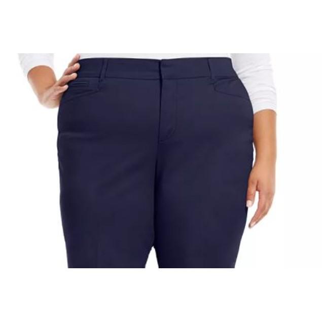 Charter Club Women's Plus Tummy Control Trouser Jeans Blue Size 24W