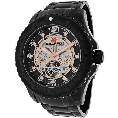 Seapro Men's Tidal PX1 Rose Gold Skeleton Dial Watch - SP3313