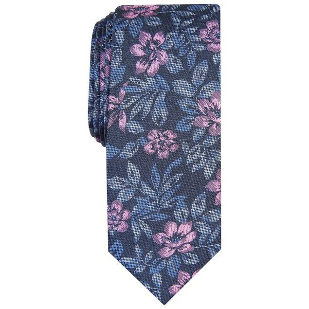 Bar III Men's Clark Skinny Floral Tie  Pink Size Regular