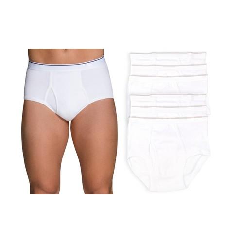 (6 Pack) ToBeInStyle Men's Classic White Cotton Brief Underwear