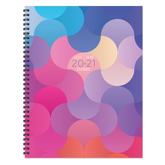July 2020 - June 2021 Bold Large Daily Weekly Monthly Planners