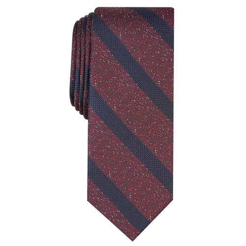 Bar III Men's Hayden Stripe Tie Brown Size Regular