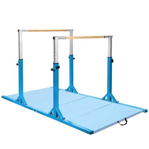 Costway Horizontal Train Bar W/ 4'x8'x2'' Gymnastics Mat Folding Panel Fitn