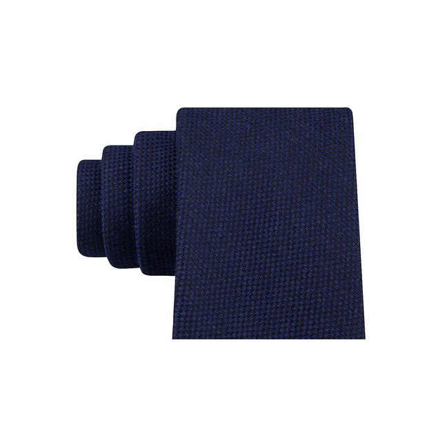 Tommy Hilfiger Men's Aaran Solid Tie Blue Size Regular