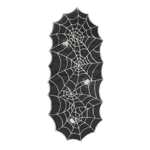 """Arlee Home Fashions Shimmering Web Halloween Centerpiece 14"""" x 36"""""""