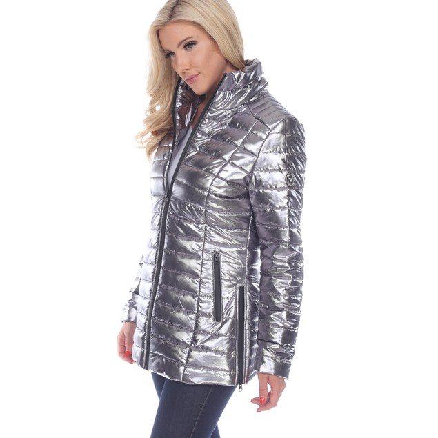 Metallic Puffer Coat - 3 Colors - Extended Sizes
