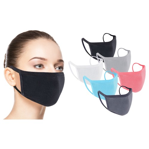 Cotton Washable Non-Medical Face Masks with Comfortable Strap (6-Pack)