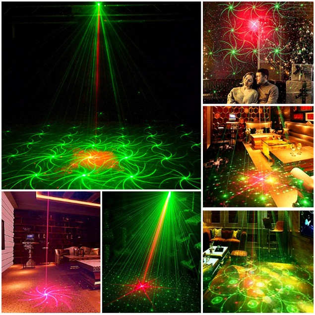 Sound Activated LED Projector Laser Patterns Laser Party Lights