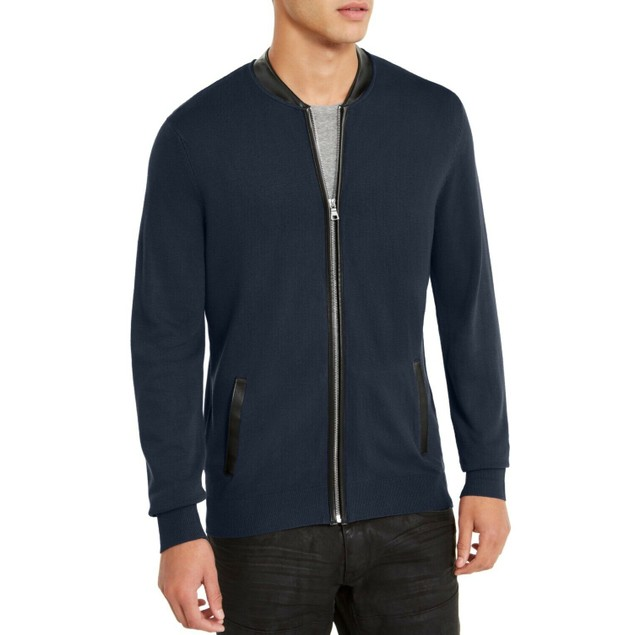 INC International Concepts Men's Zip-Front Cardigan Blue Size 2 Extra Large