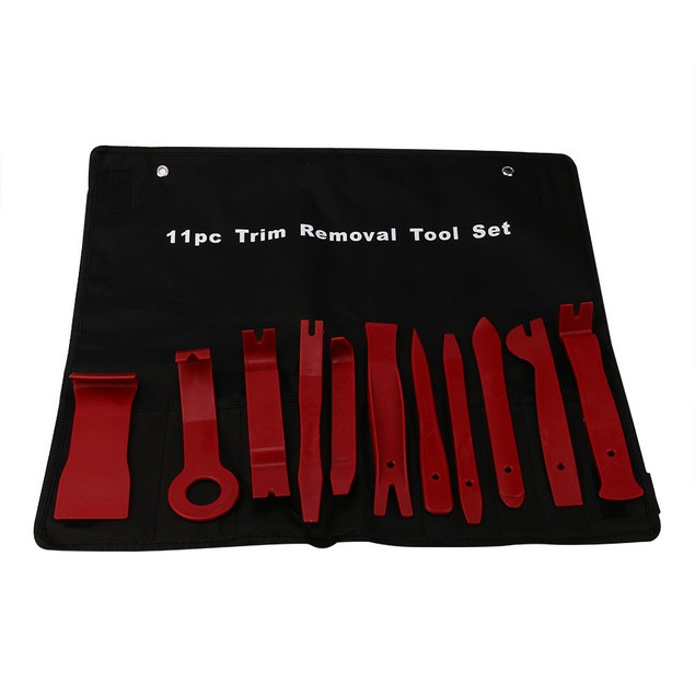 11Pcs Plastic Interior Wedge Installer Pry Tool Kit Trim Removal Clip