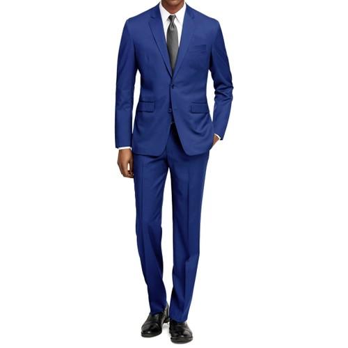 Braveman Men's Formal Two Piece 2-Piece Slim Fit Cut Suit Set