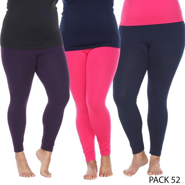 3-Pack Plus Size Leggings