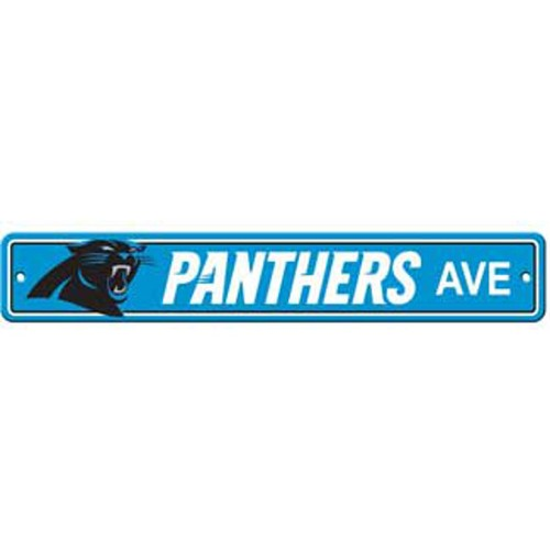 "Carolina Panthers Ave Street Sign 4""x24"""