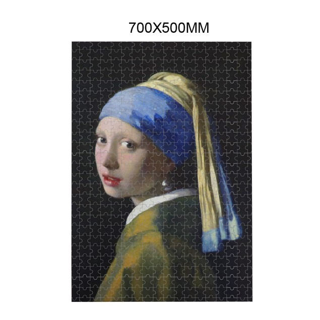 "BIGTREE 29x19"" Girl Pearl Earring Classic Oil Paintings 1000 Pieces Jigsaw Puzzle Gift Home Decoration"