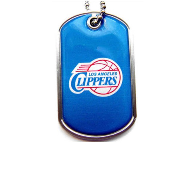 LOS Angeles Clippers Dog Tag Necklace Charm Chain