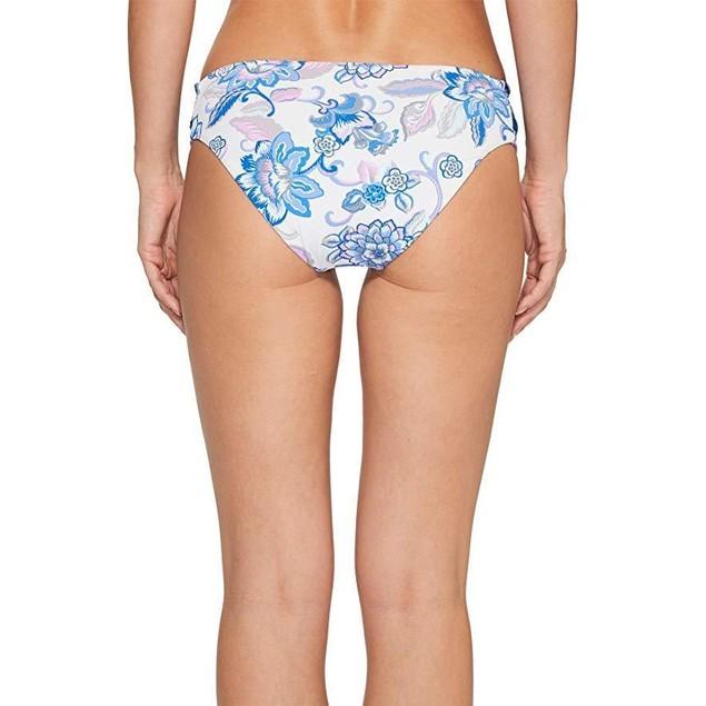 Becca by Rebecca Virtue Women's Tab Side Hipster Bikini Bottom Blue Iris L