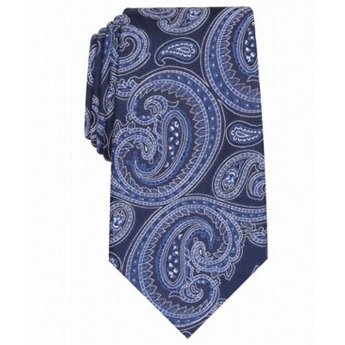 Tasso Elba Men's Paisley Silk Tie Navy Size Regular