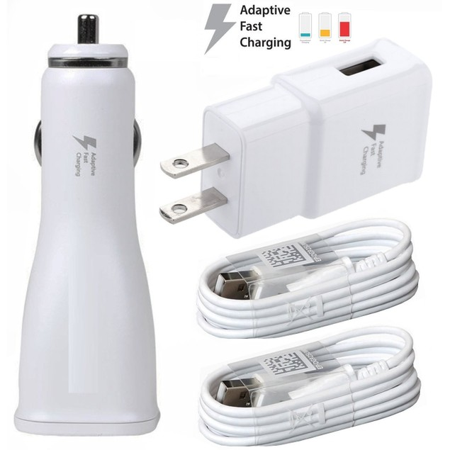 Adaptive Fast Car & Wall Combo for Samsung Galaxy With Two (2) Micro USB