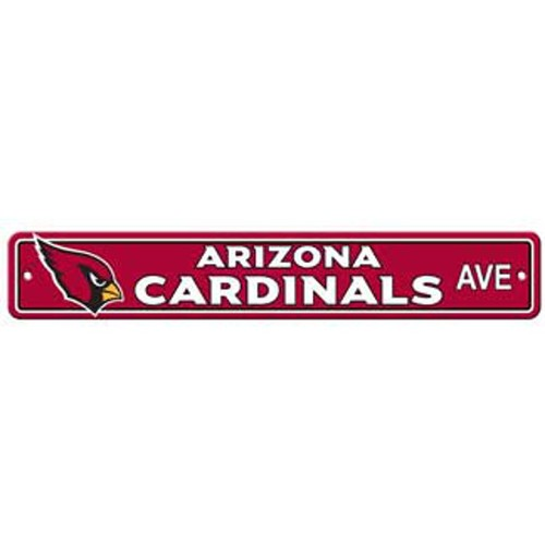 "Arizona Cardinals Ave Street Sign 4""x24"""