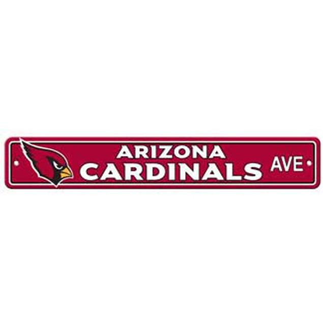"""Arizona Cardinals Ave Street Sign 4""""x24"""""""