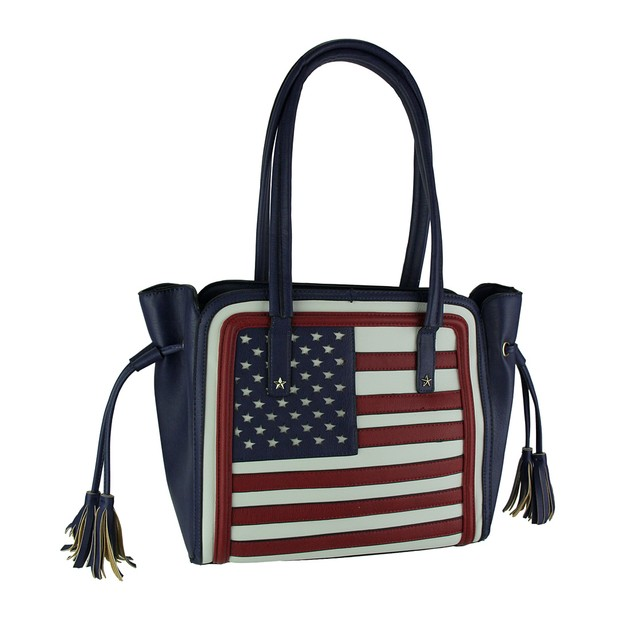 Stars And Stripes Red White And Blue American Flag Womens Shoulder Handbags