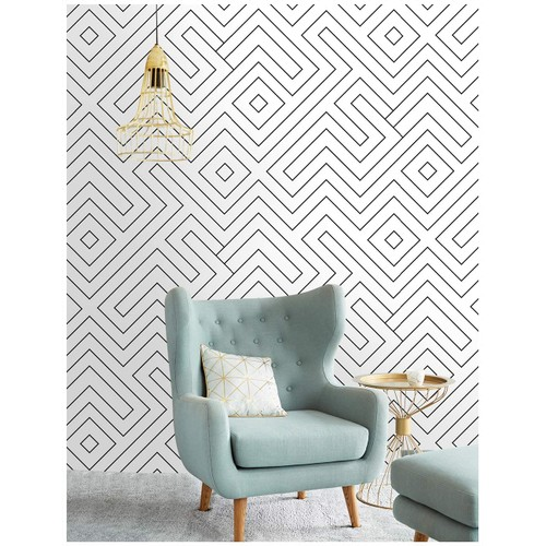 "96024-1 Modern Geometric Peel and Stick Wallpaper 17.7""x 19.7ft"