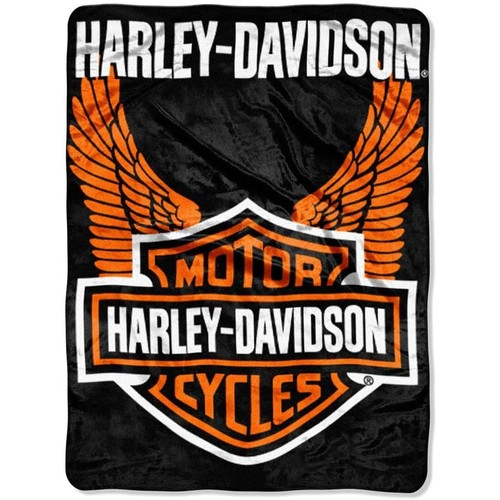Harley Davidson 60x80 Plush Throw