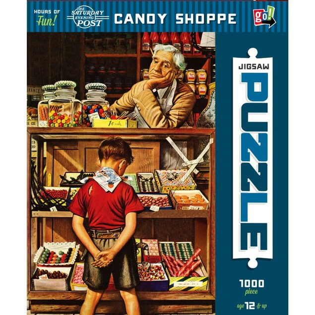 The Saturday Evening Post - Candy Shoppe 1000 Piece Pu, 1,000 Piece Puzzles