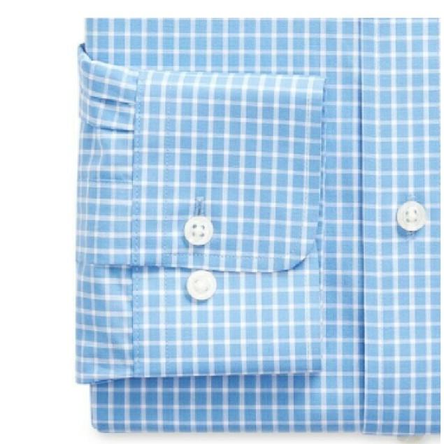 Raplh Lauren UltraFlex Performance Stretch Mint Dress Shirt Blue 16x32-33