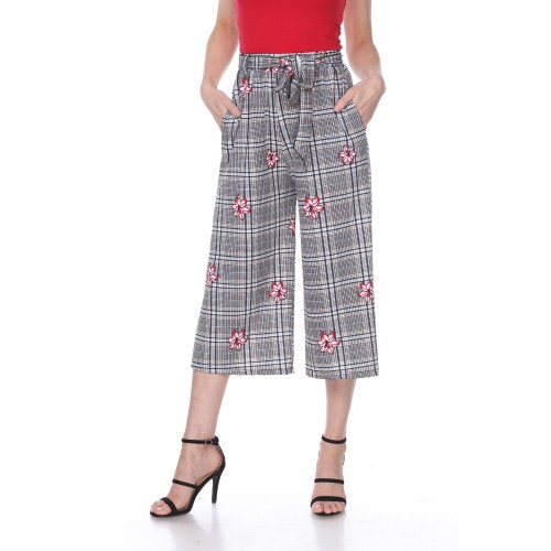Printed Gaucho Pants - 3 Colors - Extrended Sizes