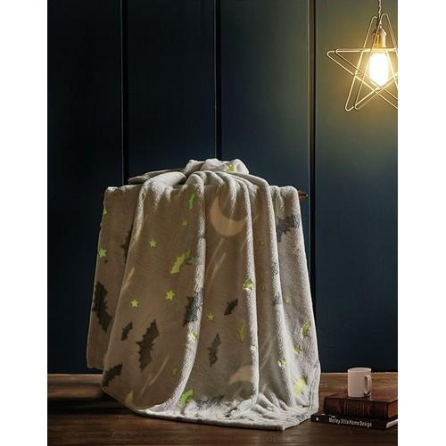 Glow in the dark Spooky Night Luxury Plush Glow Throw