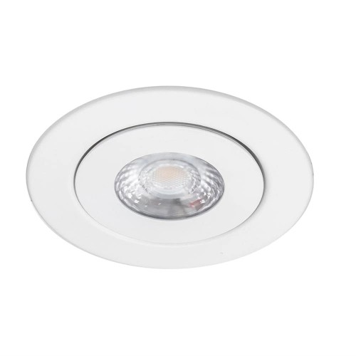 "WAC Lighting Lotos 6"" 3000K Round Remodel LED Adjustable Recessed Trim,"