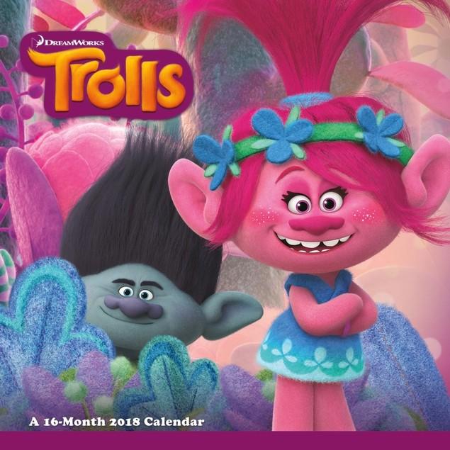 Trolls Mini Wall Calendar, Animated Movies by Calendars