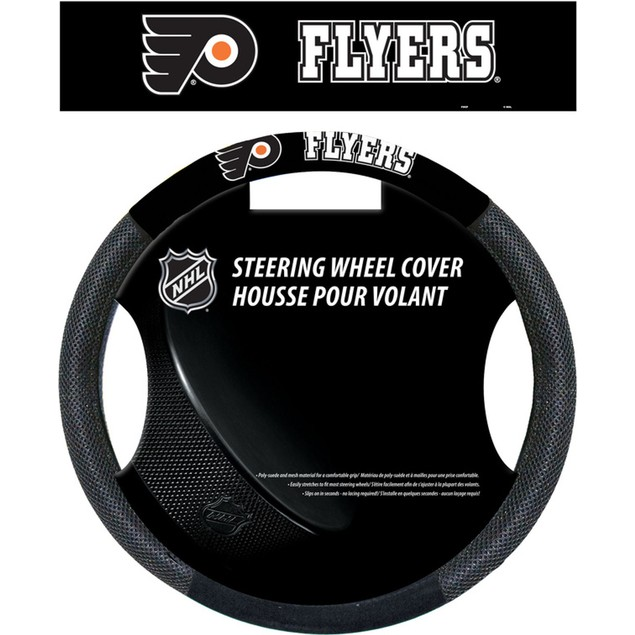 Philadelphia Flyers Steering Wheel Cover NHL Hockey Team Logo Poly Mesh