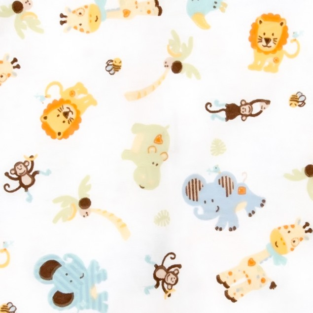 Trend Lab Jungle Friends Flannel Swaddle Blanket