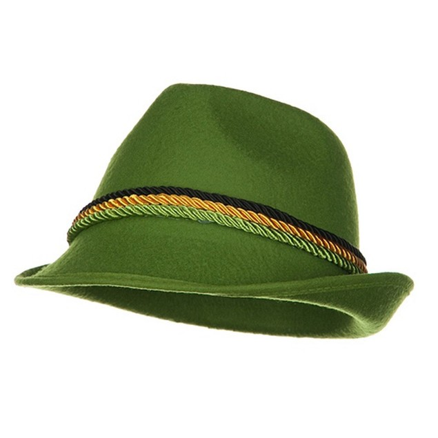 Green Felt Alpine Hat Oktoberfest German Lederhosen Austrian Swiss Bavarian