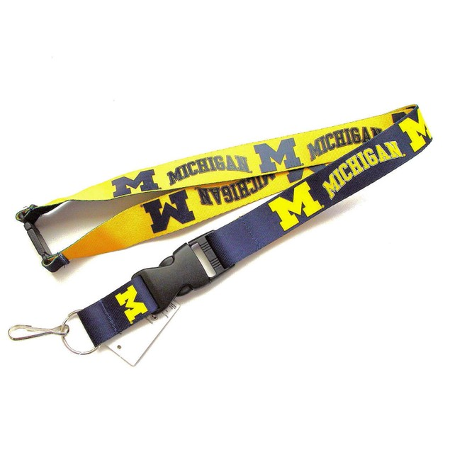 Michigan Wolverines Reversible Lanyard Keychain Ticket ID Holder