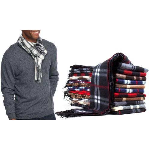 Men's Fleece Scarf (6-Pack)