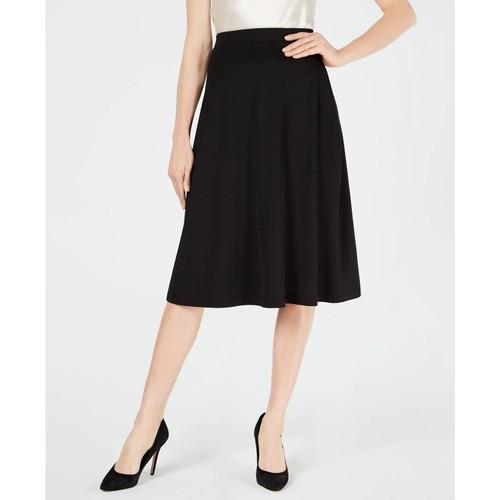Kasper Women's A Line Midi Skirt Black Size X-Large