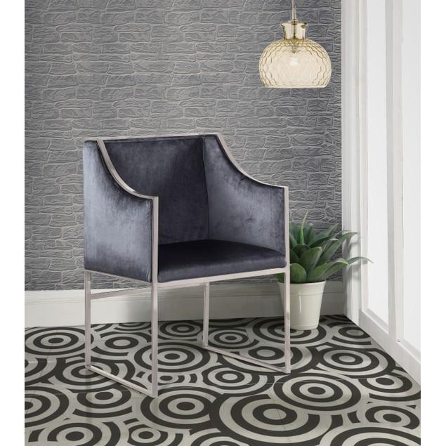 Chic Home Declan Modern Contemporary Steel Frame Velvet Accent Chair