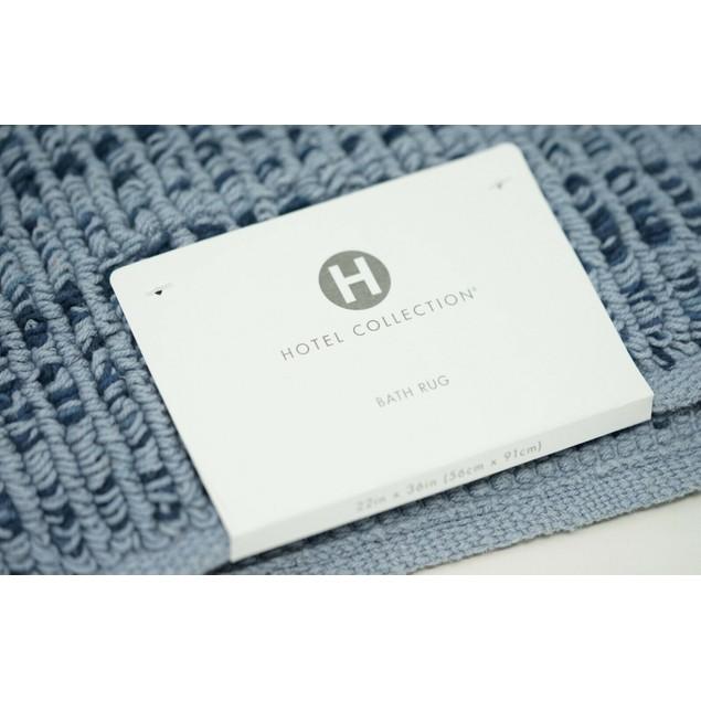 "Hotel Collection Fashion Textured Flat-Weave 22"" x 36"" Cotton Bath Rug,"