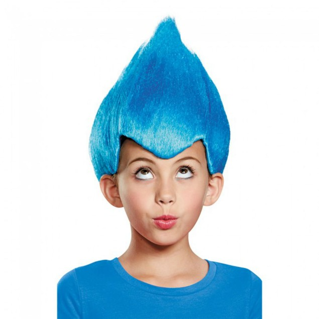 Blue Wacky Wig Child Thing 1 2 Gnome Clown Doll Costume Team Dr. Seuss 90's