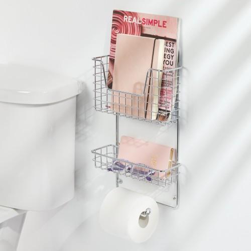 mDesign Wall Mount Bathroom Storage Organizer